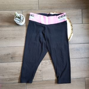 Vs pink cropped yoga pants L